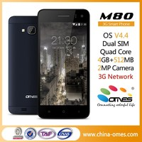 No Brand or Your Brand M80 4.5 inch 3G Quad Core OEM generic smart phone