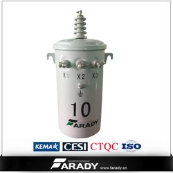 overhead pole-type oil immersed electrical 37.5kva single phase transformers