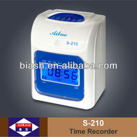 electronic time recorder, digital with blue back-light punch card clock