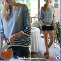 Navy bell sleeves model elegant models loose design for formal blouses pictures