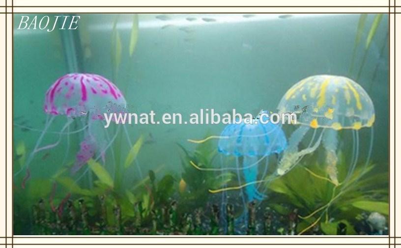de silicona de medusas artificial de simulación del acuario de medusas de plástico para el acuario decoraciones