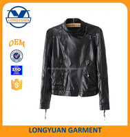 top quality motorbike manufacturer custom made faux leather jacket for girls