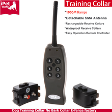 1000M Long Range Waterproof and Rechargeable Remote Dog Training Collar 2016 New Pet Products