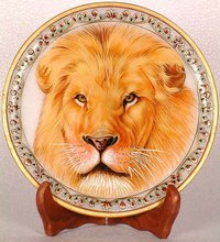 lion marble animal painting