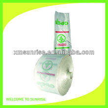 Transparent HDPE flat bag on roll