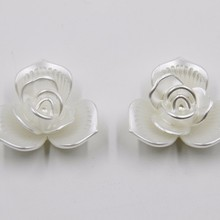 2015 new products 34mm pearl acrylic flower plastic shoes accessories P02846