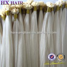 No Shed 100% Raw Materical Remy Hair kbl virgin hair Flat Tip Hair