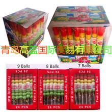 Handmade candy lollipop and fruit lollipop