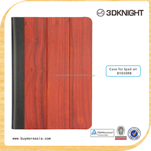 New Design Wood Pattern Foldable Case For iPad Air Leather Case