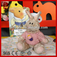 Cute toy animal wear a sweater legs movable joints plush rabbit