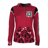 Custom Sublimation Printing Polyester Fleece Hoodie For Women