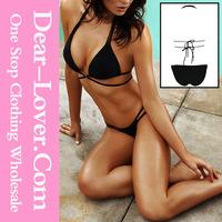 2015 summer wholesale sexy young girls new cheeky flirty black bikini