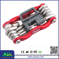 2015 Bicycle Accessories Supplier Wholesale High Quality 11 in 1 Metal Cycling Bike Bicycle Repair Tool