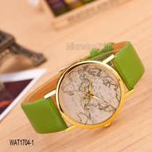 Fashion hot sale mix color around the word map watches