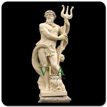 Roman marble statue nude man with anmial statue VAS-002