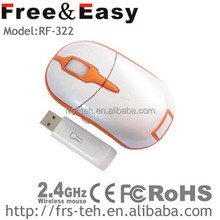 RF-322 factory offer 5d mini 2.4g wireless mouse for both hands comfortable using