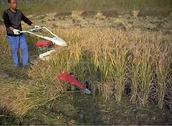 CE mini wheat reaper/wheat cutting machine with diesel engine