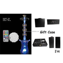 wholesale Glass Hookah with led Shisha hookah ml glass