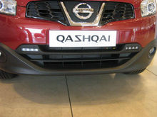 Daytime running lights integrated kit for Nissan Qashqai with E 24 E Mark