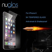 2014 New Arrival!! Mobile Phone Use 9H 0.33mm Tempered Glass Screen Protector for iPhone 6