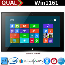 Hot Selling 11.6 inch windows 8 table 3g sim card slot with Intel core i3 Dual Core 2.2GHz 2G/32G 2.0MP/2.0MP Bluetooth 4.0 HDMI