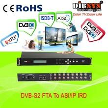 IRD1218 8 in 1 fta digital satellite receiver DVB-S2 rf to ip gateway