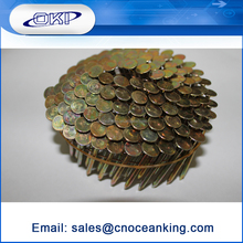 High Quality Smooth Shank steel material 1/2--6 coil roofing nails