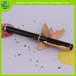 Hot new products for 2015 Metal Brass Roller Pen with Stylus touch screen,2 in 1 roller tip touch pens,2 in 1 capacitive pen fo
