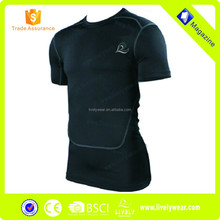 2015 Livelywear wholesale sportswear running shorts fitness wear garmen Wholesale or custom men's Compression Jersey
