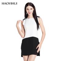 HAODUOYI Women Black White Lace Dress Sleeveless Bodycon Lady dresses for Wholesale