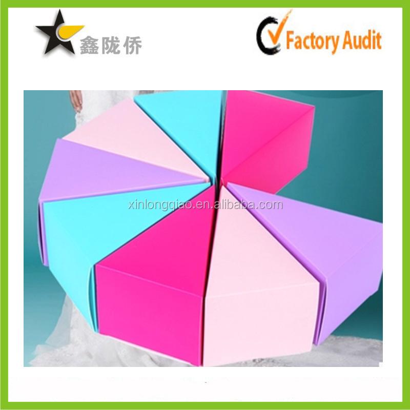 2016 wholesale custom printing full color triangle shape for Triangle wholesale printing