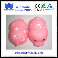 plastic farm animal floating pink pig cute vinyl bath toy
