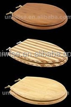 Cheap Price Carbonized/Natural/Stripes Bamboo Toilet Seat, Bamboo Toilet Seat,Carbonized natural Dark/Light bamboo toilet seat