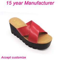 Environmental PU material girls stylish slipper shoes