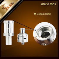alibaba express new products Large Stock Arctic tank Bottom Turbine dual coil .2ohm and .5ohm arctic tank coil