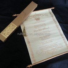 Custom Personalized Boxed Royal tube with scroll wedding invitation