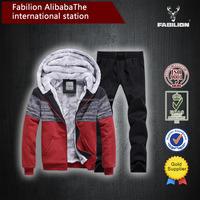 2015 wholesale plain 100% cotton cardign hit color hoodie suit for fleece hoodie jacket
