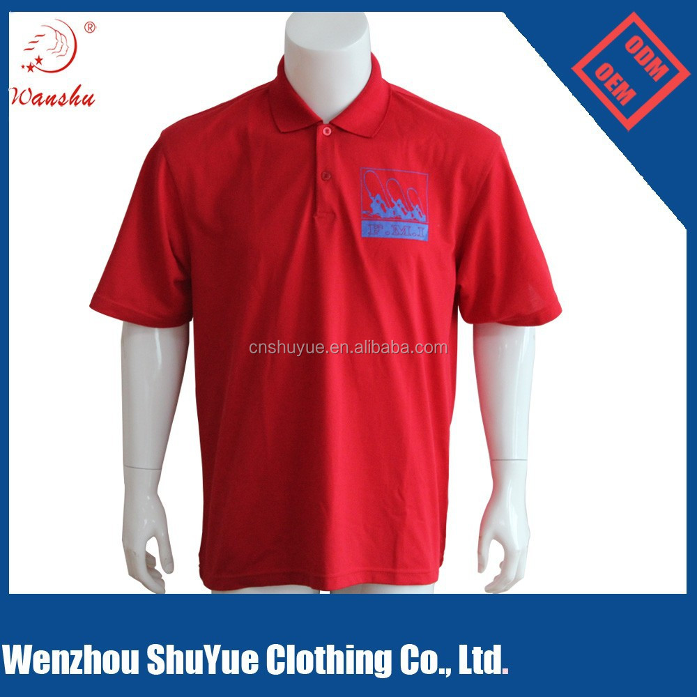 Custom cheap 100 polyester polo t shirt to your for Cheapest place to buy custom t shirts