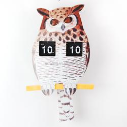 MK-Time Factory Direct Sale Funny Design Owl Flip Clock