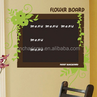 Custom designs and shapes decorative chalkboard wall decal erasable and removable blackbord stickers