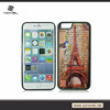Transparent double color 3D sublimation TPU Back cover case for iphone 5s