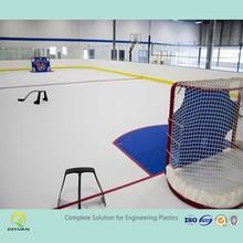 UHMWPE plastic ice rink board/ self-lubricating hockey fence board/ portable hockey training plate