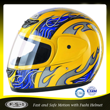 Yellow Cheap full face motorcycle helmet for sale