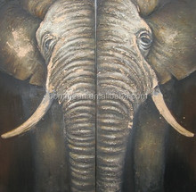 Handmade Elephant Oil Painting on canvas for bedroom decoration