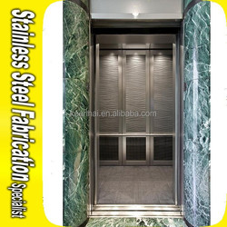 Color Coating Etching Decorative Stainless Steel Elevator Cabin