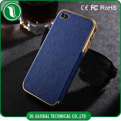 hot new products for 2015 cell phone case for iphone 5 luxury leather metal cell phone case for iphone 5