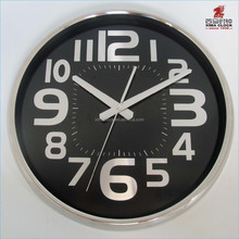 Orologio da parete 14,5 pollici stampa alluminio orologio base in acciaio inox orologio da parete in metallo