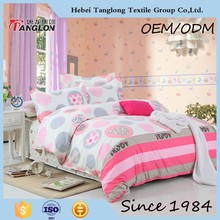 New pretty elegant lovely cute colorful printed flower design wholesale bed sheet