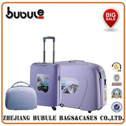 ```BUBULE```Hard suitcase ~High quality Popular Set! PP SUITCASE/TROLLEY CASE--4 pcs suircase set