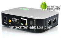 3D blue ray android smart tv box hd media player,supports goolge tv market and skype webcam chat